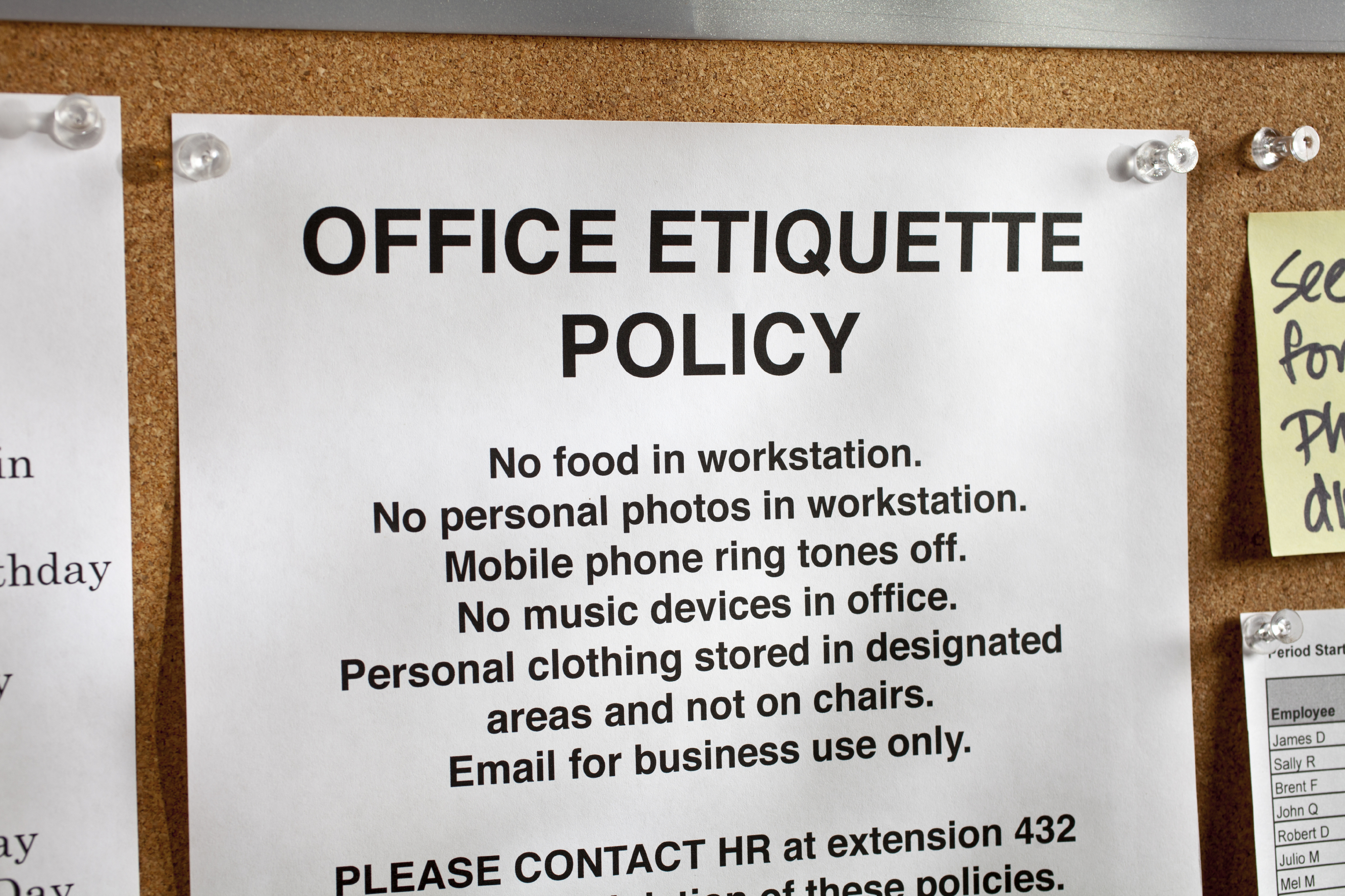 Etiquette and ethics a growing problem in the workplace istock000019885679large publicscrutiny